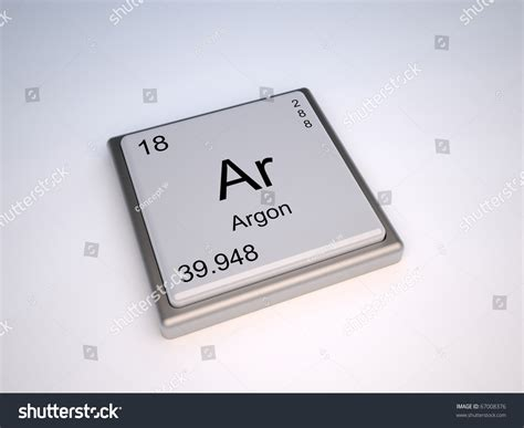 What Is Ar On The Periodic Table by Argon Chemical Element Of The Periodic Table With Symbol