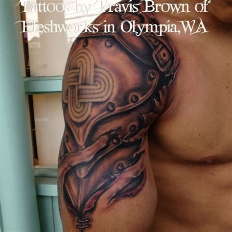 shoulder armor tattoo armor tat ideas armors olympia and tat