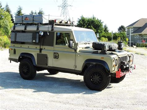 land rover defender 1990 land rover defender 110 expedition overland