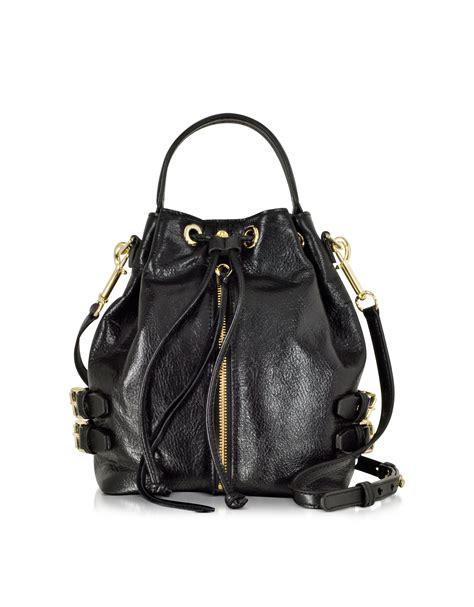 minkoff black moto bag in black lyst