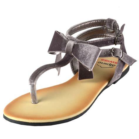 Velvet Click T Bow alpine swiss s velvet bow sandals t