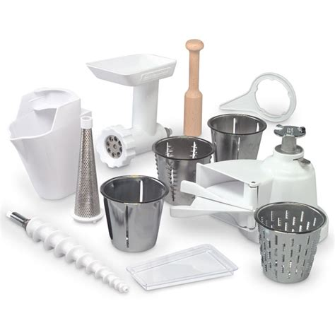 Mixer attachment pack for kitchenaid mixers