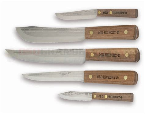 ontario 7180 hickory 5 cutlery set osograndeknives