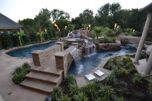 Lazy River Pools For Your Backyard Large Contemporary Backyard Lazy River Pool With Stone
