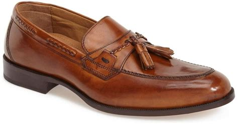 johnston and murphy tassel loafers johnston murphy stratton tassel loafer in brown for