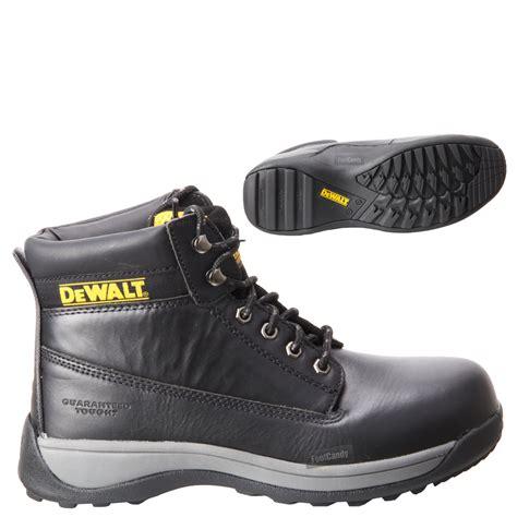 mens dewalt apprentice leather black work safety steel toe