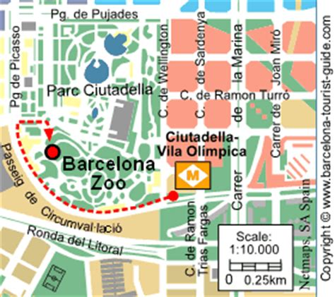 barcelona zoo map famous barcelona tourist attractions