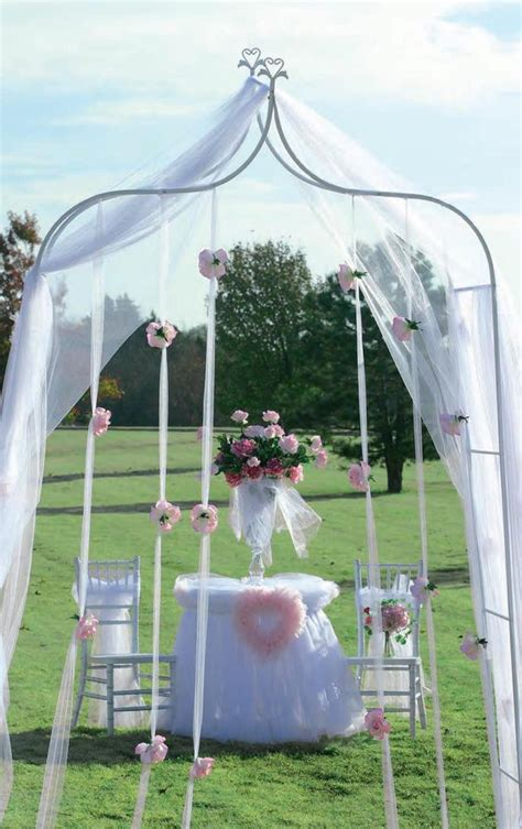 how much ribbon to decorate a 7 foot tree white metal wedding arch indoor outdoor 7ft x 4ft wide ebay