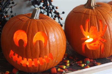 diy   carved  cute pumpkins catch  party