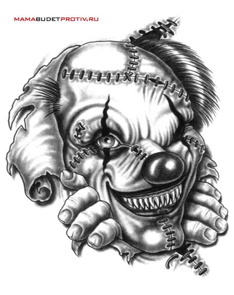 tattoo designs evil clown evil clown sketch tattoos book 65 000 tattoos