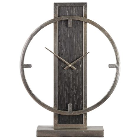 Uttermost Clocks 06443 Nico Modern Desk Clock Dunk Modern Desk Clocks