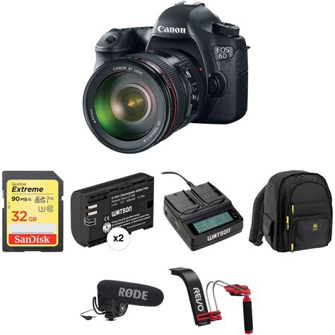 canon 6d dslr canon eos 6d dslr with ef 24 105mm f 4l is usm lens b h