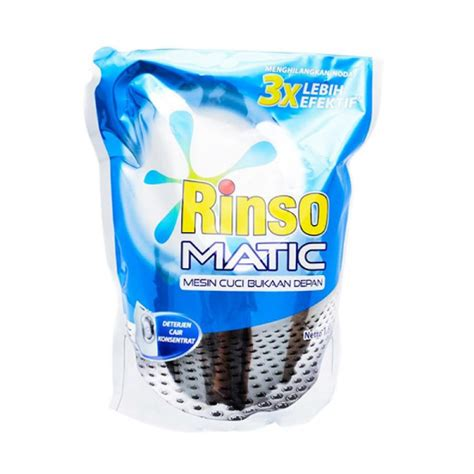 Sabun Rinso Matic rinso matic liquid front load detergent pouch 1600 ml