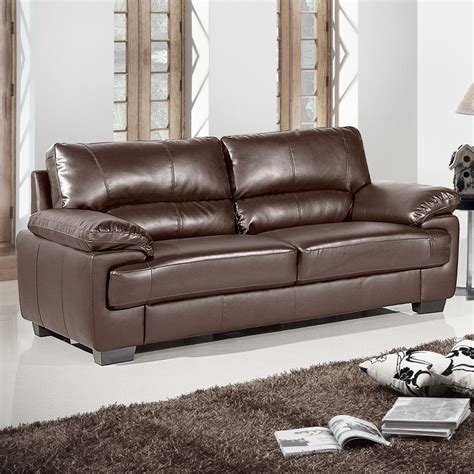 Chelsea Dark Brown Leather Sofa Collection