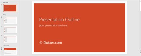 Presentation Outline Template 19 Formats For Ppt Word Pdf Powerpoint Outline Template