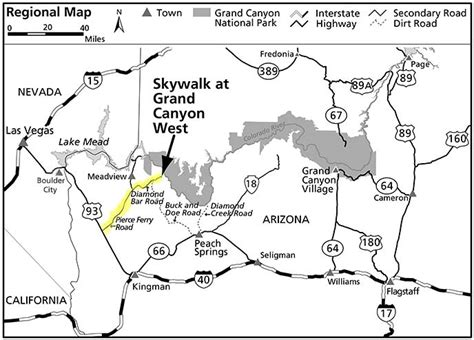 grand map skywalk the hualapai tribe and skywalk grand national