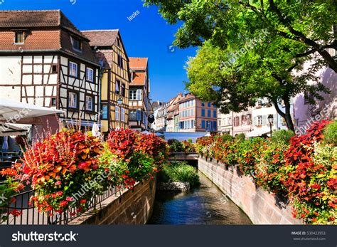most beautiful town in france colmar in alsace beautiful places france colorful colmar town stock photo