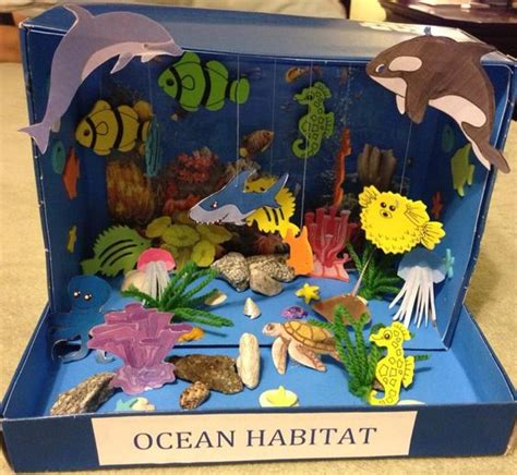 free printable ocean diorama quot my quot first grade project ocean habitat diorama other