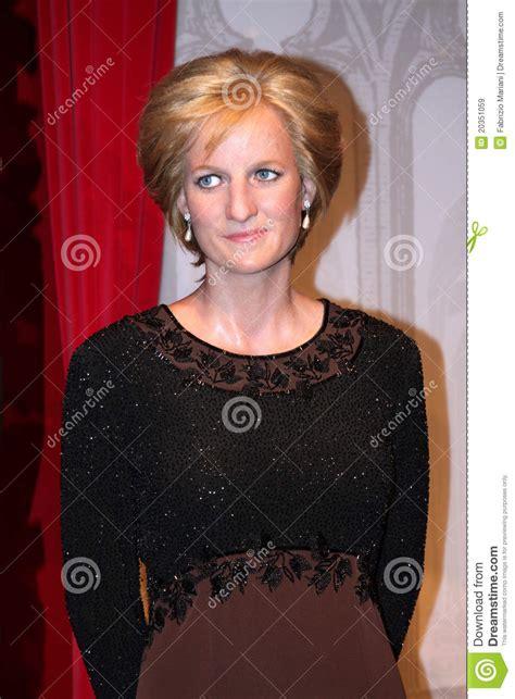 lade di cera diana at madame tussaud s editorial stock image