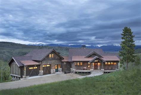 Modern Log Home Interiors by Rustic Ranch House In Colorado Opens To The Mountains
