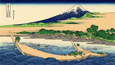 hokusai landscape wood block wallpapers hd desktop