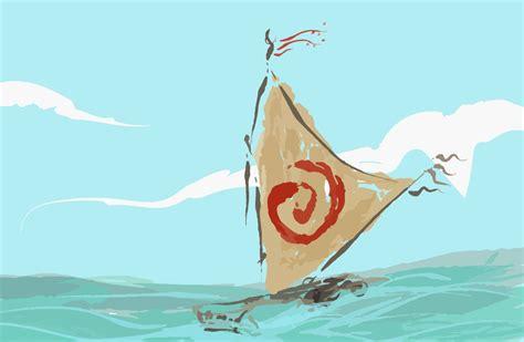 moana boat clip art moana princess waikiki s boat digital download jpeg