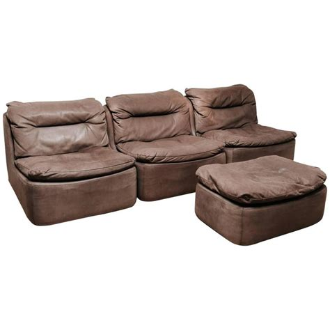 modular sectional sofa leather 20th century leather modular sectional sofa for sale at