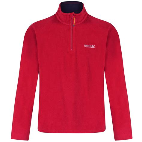 ebay zips regatta thompson mens half zip fleece top jacket pullover