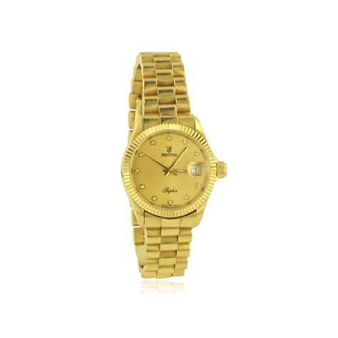 womens 18ct gold festina dot womens