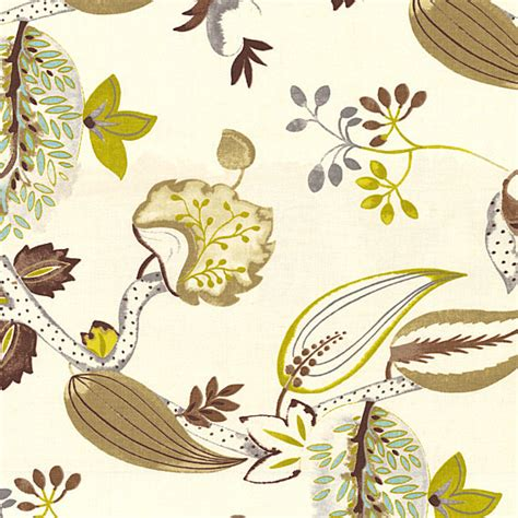 botanical upholstery fabric lime brown botanical linen fabric contemporary