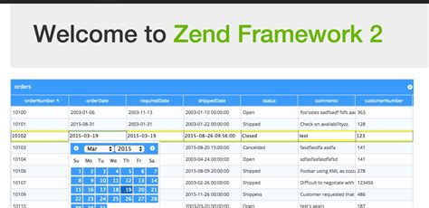 set layout zend framework 2 phpgrid and zend framework integration phpgrid php