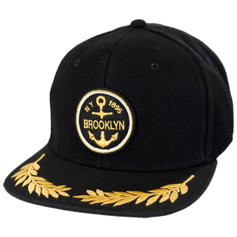 hat co chion wool and twill strapback baseball