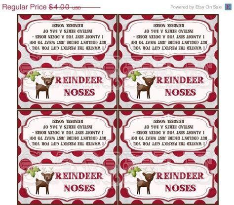 printable reindeer noses labels best photos of reindeer noses printable free printable