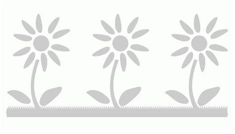 stencil con fiori stencil greca con fiori su base erbosa
