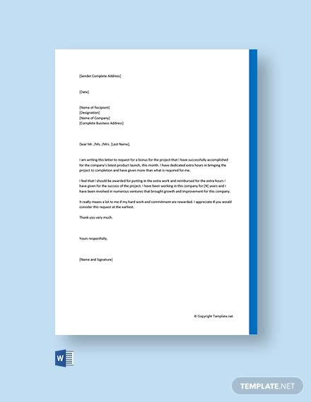 request letter templates word google