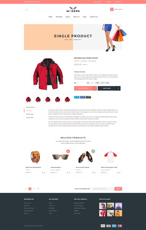 Modern Ecommerce Psd Template By Volusthemes Themeforest Single Product Ecommerce Website Template
