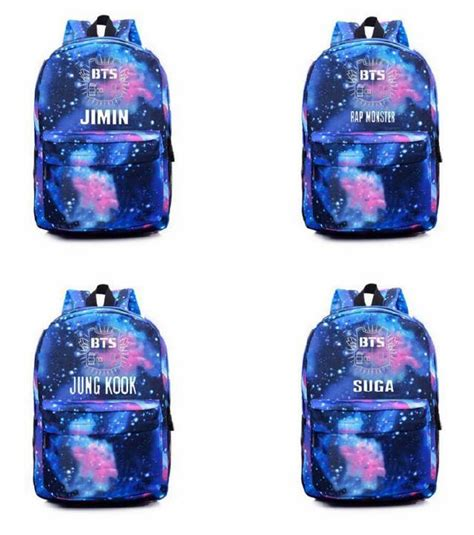 Backpack Btskpop kpop bts bangtan boys backpack starry sky school bag 7 members suga v jin jimin ebay
