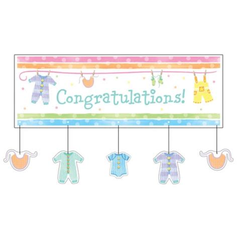 Congrats Baby Shower by Baby Clothes Baby Shower Congratulations Banner