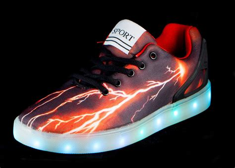 kids light up boots big kids led light up shoes pulsar black red cheap sale