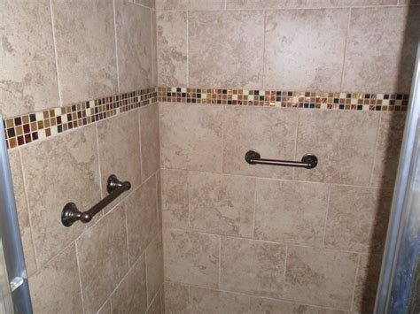 Shower Handrails by Shower Remodel With Tile And Handrails Jrh Floors