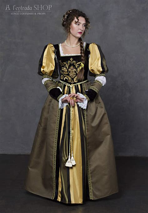 women in the 16th century youtube renaissance dress in black with olive colors early 16th