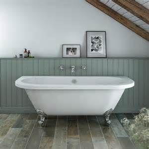 admiral 1685 back to wall roll top bath at