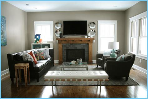 Furniture For Corners Of A Living Room Furniture Layout For Small Living Room With Corner Fireplace Decor References