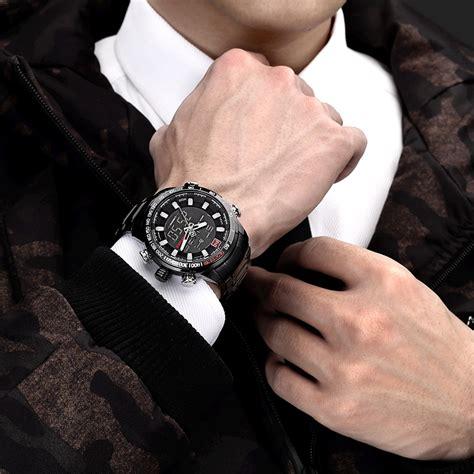 Navi Jam Tangan Analog Digital Pria Cowok Murah Elegan navi jam tangan analog digital pria 9093 black