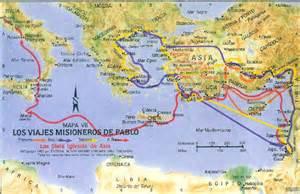 mapas de viajes misioneros del apostol pablo image gallery