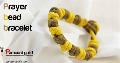 how to make a prayer bead bracelet prayer bead paracord bracelet paracord guild