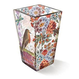 fringe studio shannon robin vase transferware glass