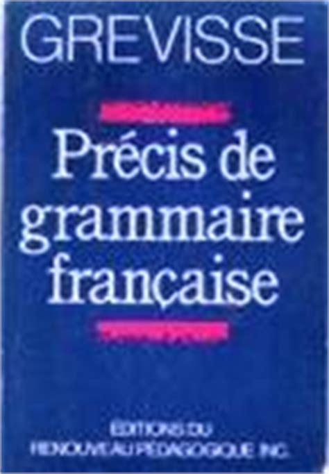 0004335619 precis de grammaire francaise secondemain votre boutique virtuelle grevisse maurice