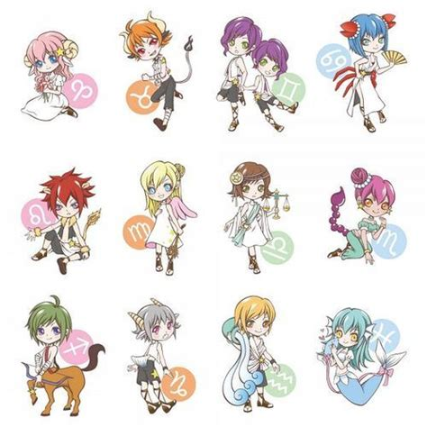 Anime Zodiac Signs by Astrology Signs On
