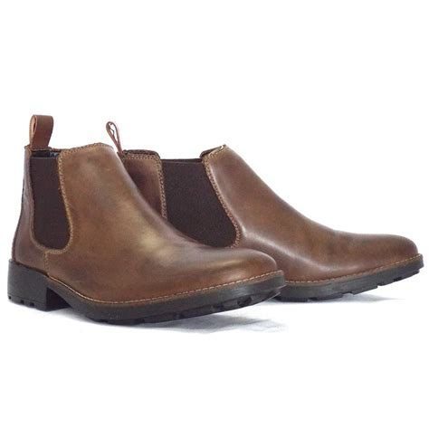 brown leather mens boots rieker eastwood 36082 25 mens pull on boot in brown leather